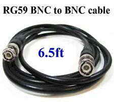 Rg59/U 75ohm 2M ( 6.5ft) Bnc Male to Bnc Male Coaxial Video Cable