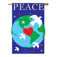Peace - Applique Decorative House Flag - H115044-P2