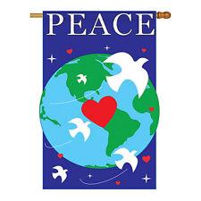 New listing Peace - Applique Decorative House Flag - H115044-P2