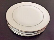 "Vintage Noritake Kendal 6903  Bread Plates Platinum trim 6 3/8"" Lot 4"