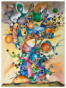 """Gemälde """"Geschlossene Welt"""" 80x60 cm Acryl Leinwand Kunst Original Abstrakt"""