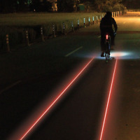 Lezyne Cycling Bicycle Light Laser Drive 250Lm Rear Black