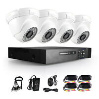 5 in1 CVI TVI 4CH AHD DVR 1080P Outdoor Indoor CCTV Security Camera Video System