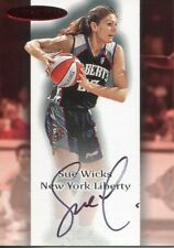 Sue Wicks Autographed 2000 Fleer Skybox Card