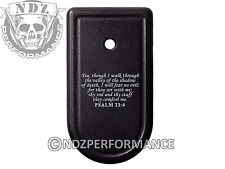 for Springfield Armory XDS 9mm 45ACP Magazine Mag Plate BK Bible Psalm 23:4