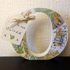 Freestanding Beatrix Potter Peter Rabbit Covered Any Letter/Number  Personalise