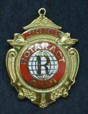 1990 silver gilt hallmarked enamel Rotaract President badge Rotary International