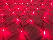 1.25m Long, 178 DEEP Red LED Net Light 660-680nm Wavelength 240v UK Plug