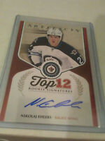 16/17 UD ARTIFACTS NIKOLAJ EHLERS TOP 12 ROOKIE SIGNATURES AUTO WINNIPEG JETS