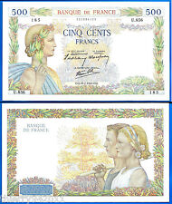 France 500 Francs 1940 Serie U La Paix Great Bill Europe Frc Frcs Free Ship Wld