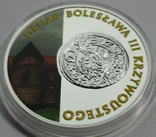 2014 Poland Polen 10 zlotych Silver 925 Boleslaw the Wry-Mouthed COLORED