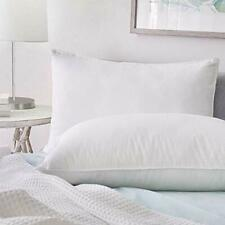 Goose Down Feather Bed Pillow Sleeping Set of 2 Hotel Collection Hypoallergenic