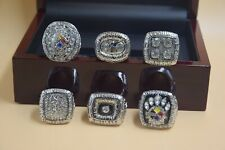 6Pcs 1974 1975 1978 1979 2005 2008 Pittsburgh Steelers Championship Ring /-