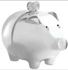 More details for silver plated piggy bank - vera wang infinity range by wedgwood