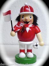 fumeur joueur de foot fan football KICKER 16 cm rouge blanc