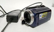 Sony HandyCam DCR-SR47 NEEDS BATTERY 60x Zoom 60 GB Camcorder Blue Works