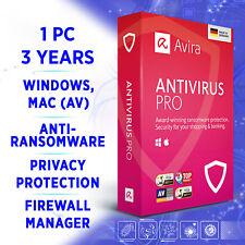 Avira Antivirus Pro 1 device 3 years 2020 full edition
