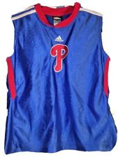 "Philadelphia Phillies Adidas Sleeveless Stitched ""P"" Shirt Youth Size 7"