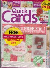 QUICK CARDS MADE EASY MAGAZINE FREE 3-IN-1-STAMP AND PAPER PACK # 169 SEP 2017