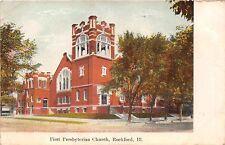 ROCKFORD ILLINOIS FIRST PRESBYTERIAN CHURCH POSTCARD 1912