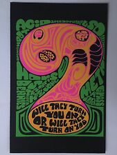 Blacklight Poster Pin-up Print Will They Turn You On & Adam & Eve Double Sided