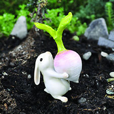 Miniature Fairy Garden BUNNY WITH TURNIP (NEW)