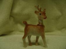 "Vintage Blow Mold Little Reindeer For Putz Village 4-1/4""T Very Nice"