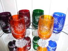 6 Römer - Bier -Kristallgläser - geschliffen im Set in 6 Farben - 24%Pb