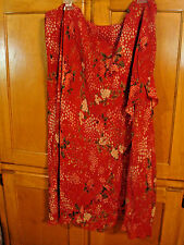 WOMANS  PLUS SZE 22W TIERED SKIRT TRIO PULL ON RED FLORAL PRINT STRETCHY MINT