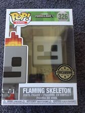 #326 MINECRAFT FLAMING SKELETON - EXCLUSIVE RARE POP VINYL - NEW BOXED (#4009)