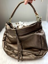 Women's Metallic Gold Hobo Bag