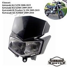 Black 12V 18W Twin Headlight Headlamp For Kawasaki KLX250 KLX 250 2008-2019 2010