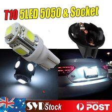 4 x White  T10 5LED 5050 Led Light W/Socket Wedge Dash Dome License Plate Lights