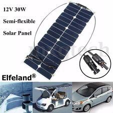 SUNPOWER ELFELAND 30WATT 30W 12V SOLAR PANEL MONO SEMI-FLEXIBLE SOLARPANEL RV