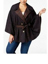 Seven 7 Melissa McCarthy REVERSIBLE Belted CAPE Coat Plus 26 28 Lane Bryant NEW