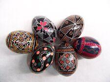 EASTER EGGS 6 UKRAINE WOOD HAND PAINTED PYSANKA s