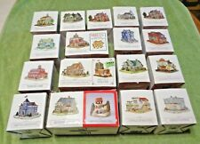 Lot of 19 Liberty Falls Village Buildings- Americana Collection- In Boxes