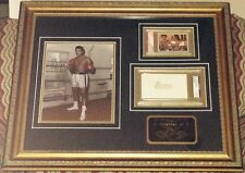 MUHAMMAD ALI BOXING LEGEND PSA/DNA SLABBED SIGNED AUTOGRAPH ~ CUSTOM FRAMED ~