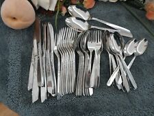 Oneida 18/8 USA Stainless SPICE Crossed Swords 50pc Set for 8 EXCELLENT