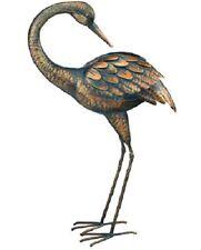 Regal Art Preening Patina Crane 3-D Standing Art Garden Decor Sculpture (11293)