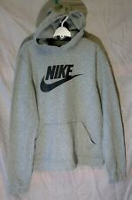 New listing Boys Girls Nike Grey Marl Black Overhead Hooded Sweater Hoodie Age 13-14 Years