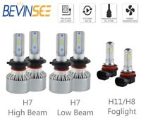 For Benz GL320 07-09 B200 06-11 6x Combo H7 & H11 LED Headlight Fog Light Bulbs