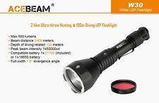 Acebeam W30 Long Range LEP Flashlight - 500 Lumens, 2408m throw Cool White 6500K