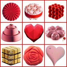 Rose Heart Cake Mold 3D Silicone Molds for DIY Baking Dessert Sugarcraft