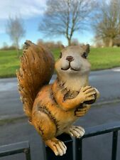 Red Squirrel Garden Ornament Wood Effect Resin Animal Sculpture Home Decor GIFTs
