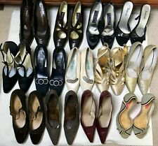 Lot of Assorted Size Vintage Shoes: Pumps and Heels / 13 pairs