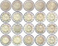 20 x 2 Euro 2009 WWU EMU Europa Gemeinschaftsausgabe Komplettset bankfrisch