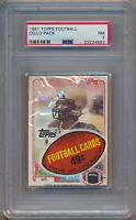 1981 Topps Football Factory Sealed Cello Pack PSA 7