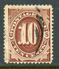 UNITED STATES 1884 POSTAGE DUE 10c RED BROWN USED J19