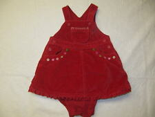 Baby Gap Red Velour Jumper Dress w/Bloomers,Size 3-6 mos.
